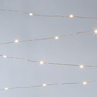 60-Light Angel Tears Light Set, White, String Lights