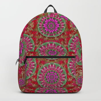 Hearts can also be flowers such as bleeding hearts pop art Backpacks by Pepita Selles