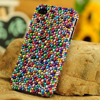 Bling Colorful Crystals iPhone Cases iPhone 5 Case Multicolored Rhinestone iPhone 4 Cases iPhone 4s Case Samsung Galaxy S3 Case