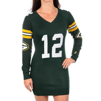 Green Bay Packers Aaron Rodgers Sweater Dress by Klew (Will Ship Middle Of November)