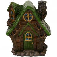 Woody Lodge Fairy House Incense Burner at Every Witch Way Online Shop