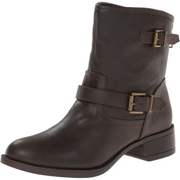 Wild Pair Women's Othello Engineer Boot, Dark Brown, 9.5 M US