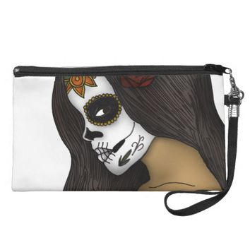The Day Of The Dead Girl Wristlet Purse