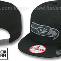 mobile product - Seahawks FADEOUT SNAPBACK Black-Grey Hat by New