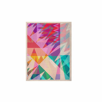"Miranda Mol ""Triangle Feast"" Abstract Geometric KESS Naturals Canvas (Frame not Included)"