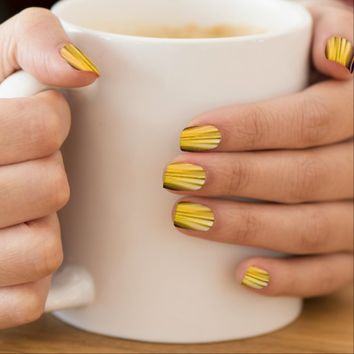Sea Shell Yellow Driving Dreams Minx Nail Art