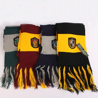 Scarf Gryffindor/Hufflepuff/Ravenclaw/Slytherin Scarves Wide Striped Warm Personality Cosplay prop Free Shipping