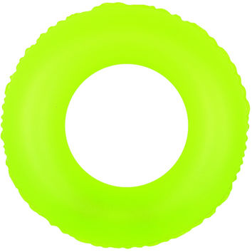"30"" Classic Round Neon Yellow Inflatable Swimming Pool Inner Tube Ring Float"