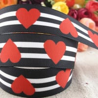 "Hearts Grosgrain 7/8"" Printed Ribbon"