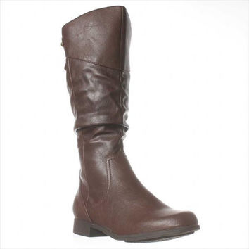Hush Puppies Gianna Motive Riding Boots - Dark Brown