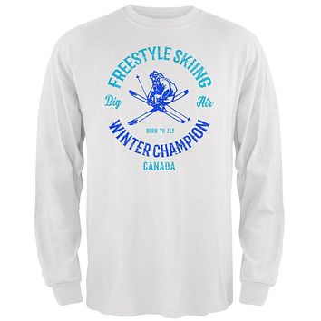 Winter Games Freestyle Skiing Champion Canada Mens Long Sleeve T Shirt