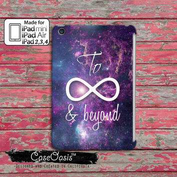 To Infinity Symbol And Beyond Purple Space Galaxy Tumblr Inspired Cute Custom iPad Mini, iPad 2/3/4 and iPad Air Case Cover