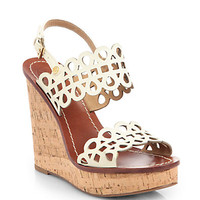 Nori Leather & Cork Wedge Sandals
