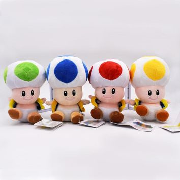 2017 Super Mario Bros Figure Mario Bullet Mushroom Tortoise Wall Well PVC Action Figure Model Toys DIY Decoration Gift