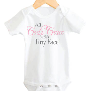 Christian Baby Onesuit, Baby Girl Onesuit, God Onesuit, Christian Onesuits, Baby Girl Onesuits