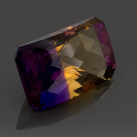 Ametrine: 29.80ct Yellow Purple Radiant Checker Board Shape Gemstone, AAA Natural Hand Made Faceted Gem, Loose Precious Quartz Mineral 20909