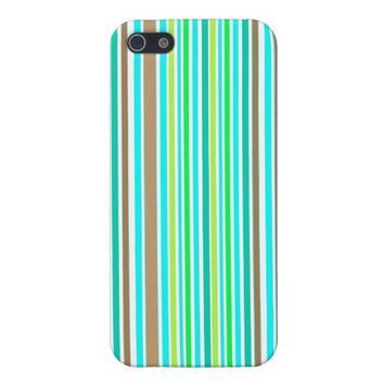 Blue Brown & Green Spring Striped Modern Pattern iPhone 5 Covers