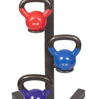 j/fit Kettlebell Rack with Set of 4 Kettlebells