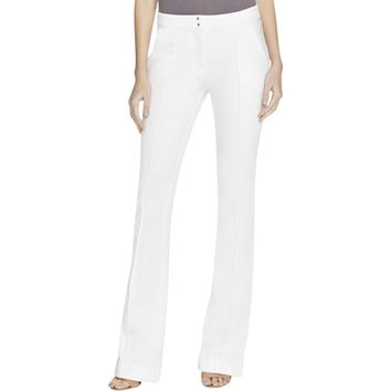 Elie Tahari Womens Bailee Twill Cuffed Dress Pants