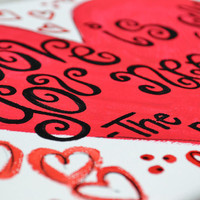 ON SALE- Love is all you need 8x10 Canvas Painting