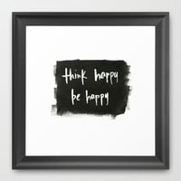 thinkbe Framed Art Print by Social Proper