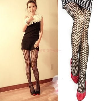 Women Sexy Net Fishnet Pantyhose Tights Leggings Black  5998 Trousers One size (Color: Black) = 1745540484