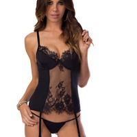 Come Hither Lace Bustier Set
