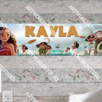 Personalized/Customized Moana Movie Poster, Border Mat and Frame Options Banner C14