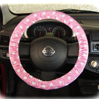 Steering Wheel Cover Bow Wheel Car Accessories Lilly Heated For Girls Interior Aztec Monogram Tribal Cheetah Sterling Chevron Pink Polka Dot