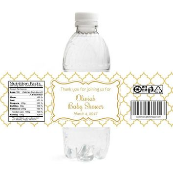 Elegant Baby Shower Water Bottle Labels