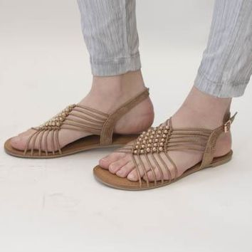 Cielo Strappy Sandal - Rose Gold