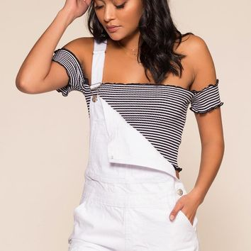 Over It Distressed Overalls