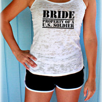 1, 2 or 3 Burnout Bridesmaid Tank Tops. Military Bride Shirt. Wedding Bachelorette Party Gift. Bridal Party Tank Tops. Bride Gift.
