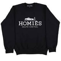 HOMIES SOUTH CENTRAL CREWNECK -BLACK
