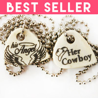 Cowboy Angel Bone Necklaces