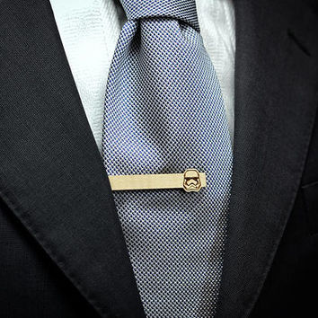 NEW Star Wars Tie Clip - 2018 STORMTROOPER Maple wood tie bar