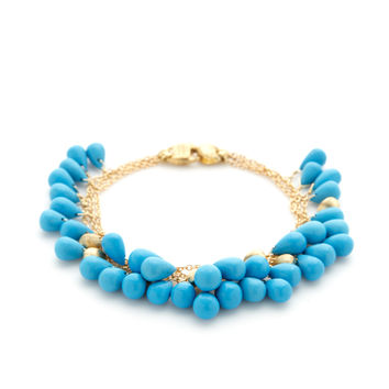 Marco Bicego Women's Acapulco Turquoise Briolette Triple Strand Bracelet