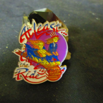 GRATEFUL DEAD Dead Head Song Lyric Hell In A Bucket At Least I'm Enjoying The Ride Cloisonne Hat Lapel Pin 2 Inches