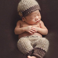 Boys Handmade Infant Baby Costume Knitted Beanies Hat Newborn Pography Prop Crochet Hats Caps Accessories
