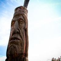 Totem Pole Photograph, Native American Photo, Peter Toth Indian Art Photo Wood Carving, Ocean City, Maryland, Fine Art, Wall Art, Home Decor