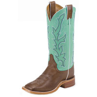 Women's Justin Chocolate Burnished Calf Cowgirl Boots