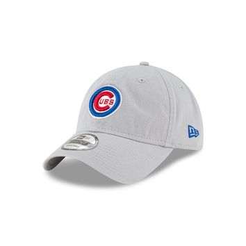 Chicago Cubs Bullseye Logo Gray Core Classic Adjustable Hat By New Era