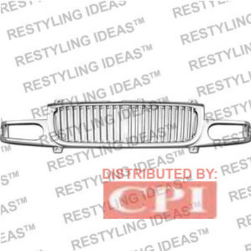 Gmc 2000-2006 Gmc Yukon Chrome Denali Vertical Bar Abs Grille Performance