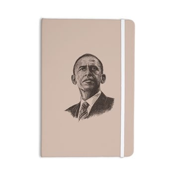 "BarmalisiRTB ""Barack Obama"" Brown Gold Everything Notebook"