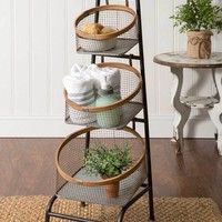 Three Basket Floor Display
