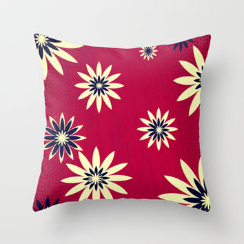 Daisies Throw Pillow by Armin