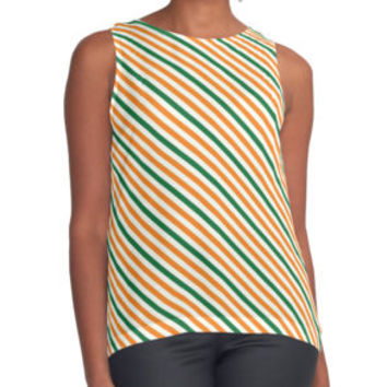 'Green White And Gold Striped ' Scarf by Dizzydot