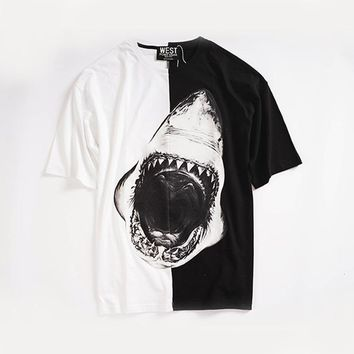 Short Sleeve Summer Print Couple Strong Character T-shirts [12171392147]