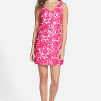 Women's Vineyard Vines Embroidered Silk Shift Dress