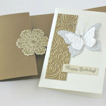 Birthday Card, Bath Salt Card Insert, Gift Card Package with Bath Soak, One of a Kind